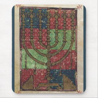 Vintage Menorah, Festival of Lights Happy Hanukkah Mouse Pad