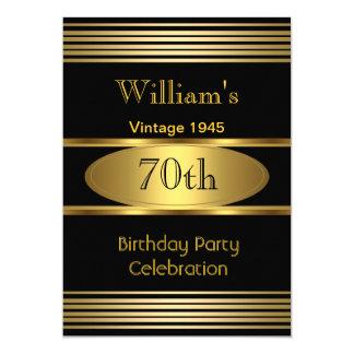 Vintage Mens 70th Birthday Party Gold Black 1945 Card