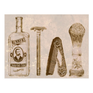 Vintage Men's Shaving Kit Razor Postcard