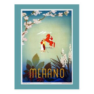 Vintage Merano Meran Italian travel Postcard