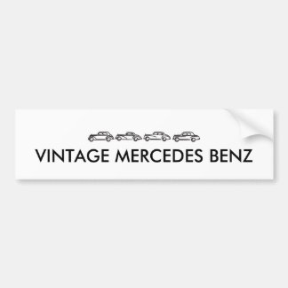 Vintage Mercedes Models Bumper Sticker