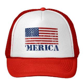 Vintage 'MERICA US Flag Hat Trucker Hat