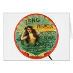 Vintage Mermaid 1908 Long Beach Festival ofthe Sea Greeting Card