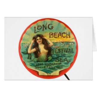Vintage Mermaid 1908 Long Beach Festival ofthe Sea Card