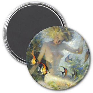 Vintage Mermaid 7.5 Cm Round Magnet