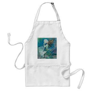 Vintage Mermaid Holding Pearl Aprons