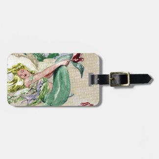 Vintage Mermaid Luggage Tag