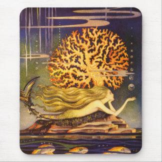 Vintage Mermaid Mouse Mat