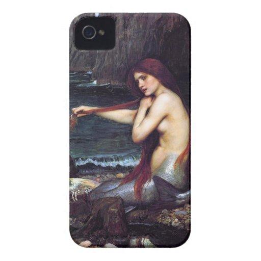 Vintage Mermaid Pre-Raphaelite BlackBerry Case