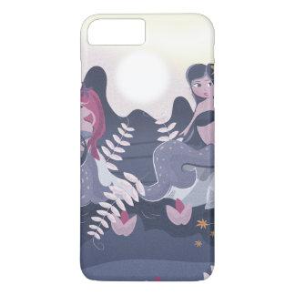 Vintage Mermaid Print iPhone 7 Plus Case