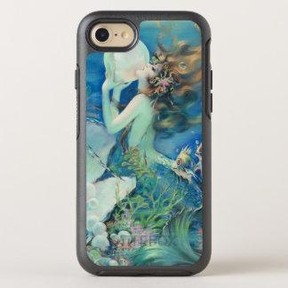 Vintage Mermaid w Pearl Nautical Ocean Nautical OtterBox Symmetry iPhone 7 Case