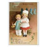 Vintage Merry Christmas Card - Kids Card
