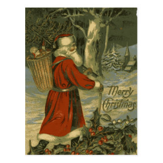 Vintage Merry Christmas Card St Nick