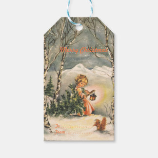 Vintage Merry Christmas Holiday Gift Tags