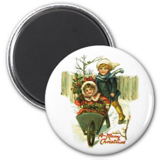Vintage Merry Christmas Magnet