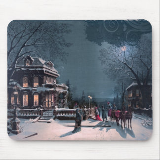 Vintage Merry Christmas Mouse Mat