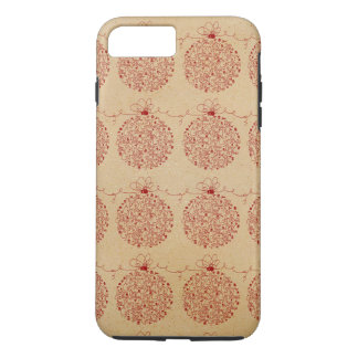 Vintage Merry Christmas Ornaments Pattern iPhone 7 Plus Case