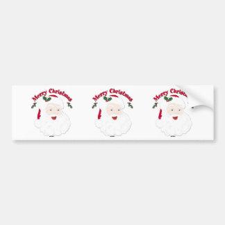 Vintage Merry Christmas Santa Bumper Sticker