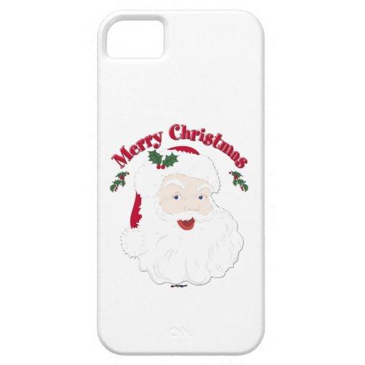 Vintage Merry Christmas Santa iPhone 5 Covers