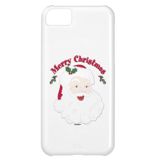 Vintage Merry Christmas Santa iPhone 5C Covers