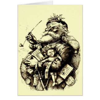 Vintage Merry Old Santa Claus Card