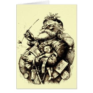 Vintage Merry Old Santa Claus Greeting Card