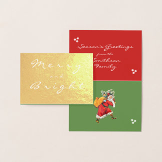 Vintage Merry Santa Claus is Coming Christmas Card