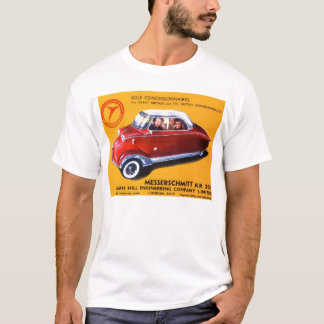 Vintage Messerschmitt 3 Wheeled Car From Germany T-Shirt