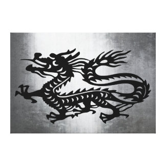 Vintage Metal Dragon Stretched Canvas Prints