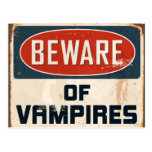 Vintage Metal Sign - Beware Of Vampires