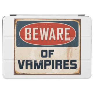 Vintage Metal Sign - Beware Of Vampires iPad Air Cover