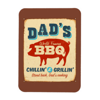 Vintage metal sign - Dad's BBQ Magnet