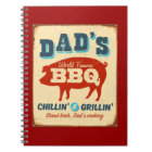 Vintage metal sign - Dad's BBQ Notebook