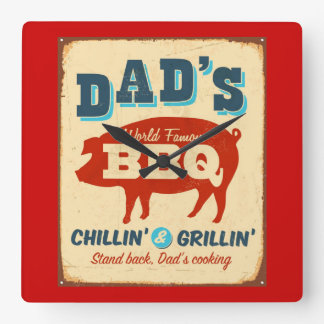 Vintage metal sign - Dad's BBQ Wall Clocks