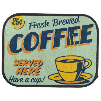 Vintage metal sign - Fresh Brewed Coffee Car Mat