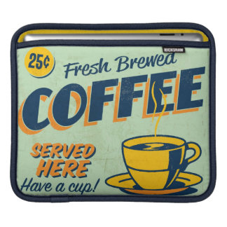 Vintage metal sign - Fresh Brewed Coffee iPad Sleeve