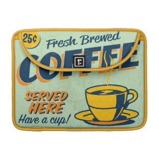 Vintage metal sign - Fresh Brewed Coffee Sleeve For MacBook Pro