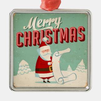 Vintage Metal Sign - Merry Christmas Christmas Ornament