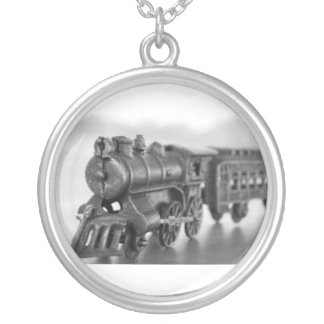 Vintage Metal Train Necklace