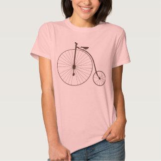 Vintage Metallic High Wheel Antique Bicycle Tee Shirts