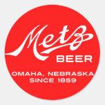 Vintage Metz Beer Stickers