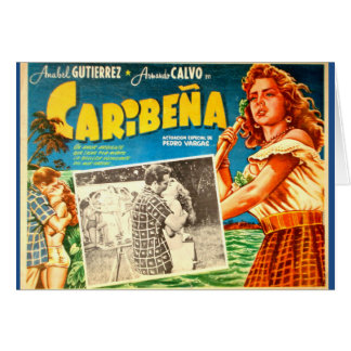 Vintage Mexican movie poster greeting card