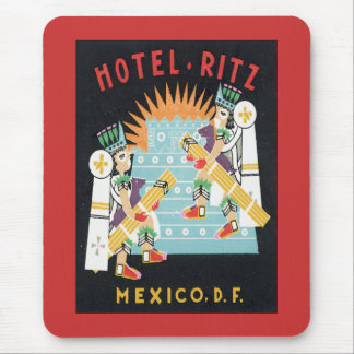 Vintage Mexico Hotel Mouse Pad