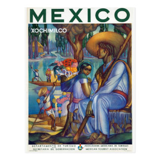 Vintage Mexico - Mexican Travel Tourism Artwork Postcard