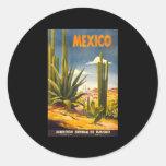 Vintage Mexico Round Sticker