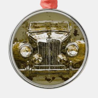 Vintage MG Sports Car Christmas Ornament