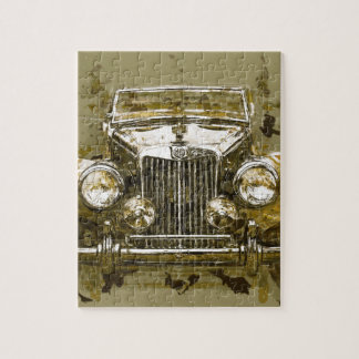 Vintage MG Sports Car Jigsaw Puzzle
