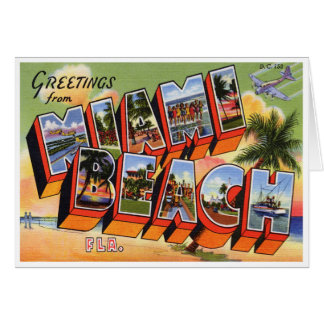 Vintage Miami Beach Card