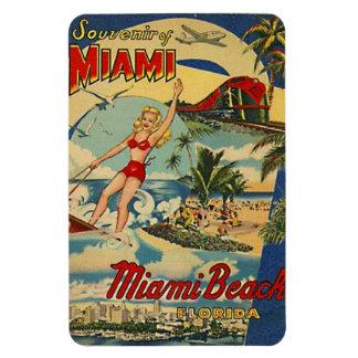 Vintage Miami Beach, Florida, USA - Rectangular Photo Magnet
