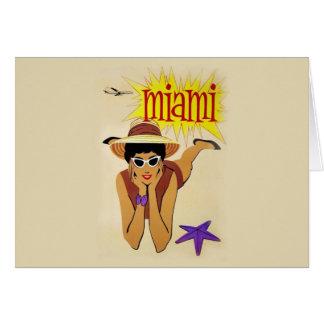 Vintage Miami Beach Greeting Card